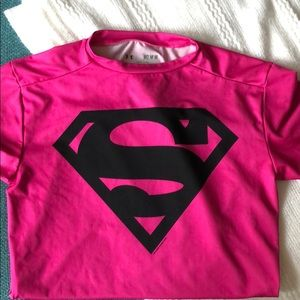 Under Armour pink compression shirt